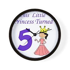 Little Princess Turned 5 Wall Clock