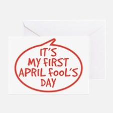 Babys First April Fools Day Greeting Card