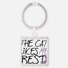 The-Cat-Likes-Me-Best Square Keychain