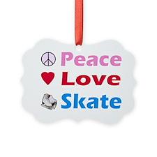 peaceloveskate1 Ornament