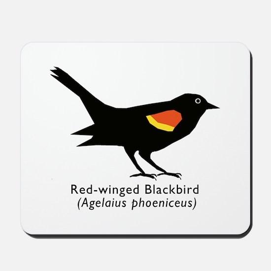red-winged blackbird Mousepad