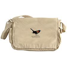 red-winged blackbird Messenger Bag