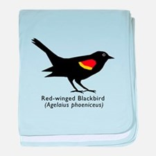 red-winged blackbird baby blanket