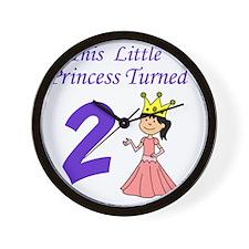 Little Princess Turned 2 Wall Clock