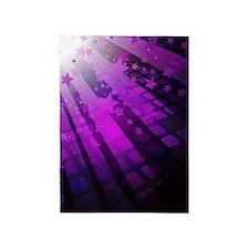 Purple Tile Stars 5'x7'Area Rug