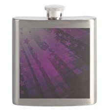 Purple Tile Stars Flask