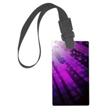 Purple Tile Stars Luggage Tag