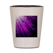 Purple Tile Stars Shot Glass
