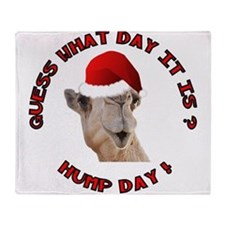 Guess What Day it Is Hump Day Camel Throw Blanket
