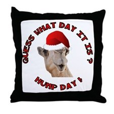 Guess What Day it Is Hump Day Camel Throw Pillow