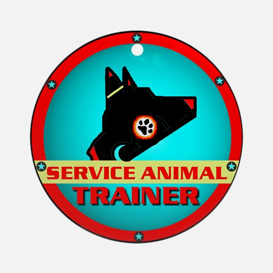 Service Animal Trainer, Ornament (Round)