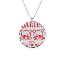 twins-boarded-T Necklace