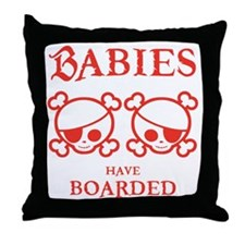 twins-boarded-T Throw Pillow