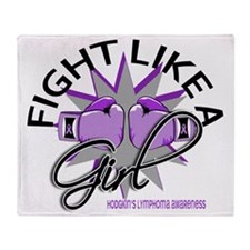 Fight Like A Girl Hodgkins Lymphoma  Throw Blanket