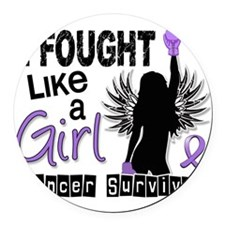 I Fought Like A Girl 26S Hodgkins Round Car Magnet