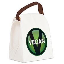 VeganButton_3.5in Canvas Lunch Bag