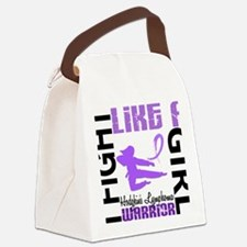 D Fight Like A Girl Hodgkins Lymp Canvas Lunch Bag