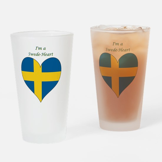 SwedeHeart-sq Drinking Glass