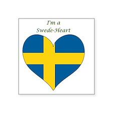 "SwedeHeart-sq Square Sticker 3"" x 3"""