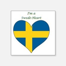 "SwedeHeart-sq Square Sticker 3"" x 3"""