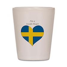 SwedeHeart-sq Shot Glass