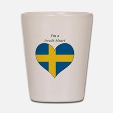 SwedeHeart-sq Shot Glass