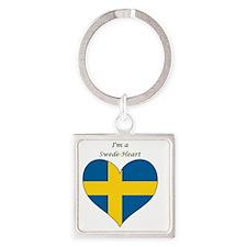SwedeHeart-sq Square Keychain