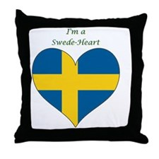 SwedeHeart-sq Throw Pillow
