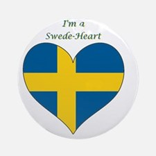 SwedeHeart-sq Round Ornament