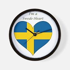 SwedeHeart-sq Wall Clock