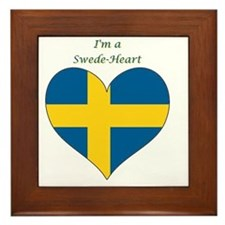 SwedeHeart-sq Framed Tile
