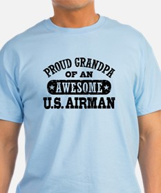 Proud Grandpa of an Awesome US Airman T-Shirt