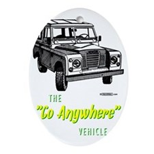 land-rover-series-go-anywhere Oval Ornament
