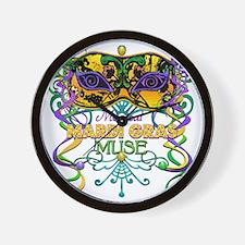 MGmaskMuseFaTR Wall Clock