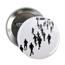 """Running People Faded 2.25"""" Button"""