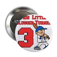 "Little Slugger Turned 3 2.25"" Button"