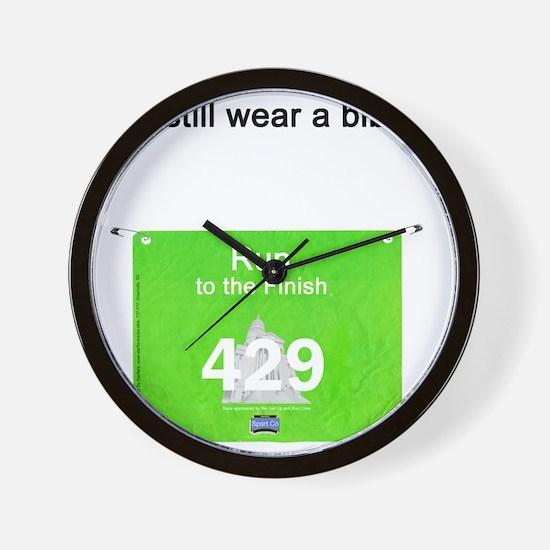 Bib Number Shirt Wall Clock