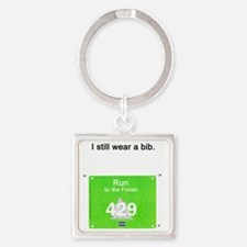 Bib Number Shirt Square Keychain