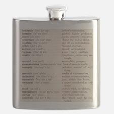 Vintage Word Lesson 1 Flask