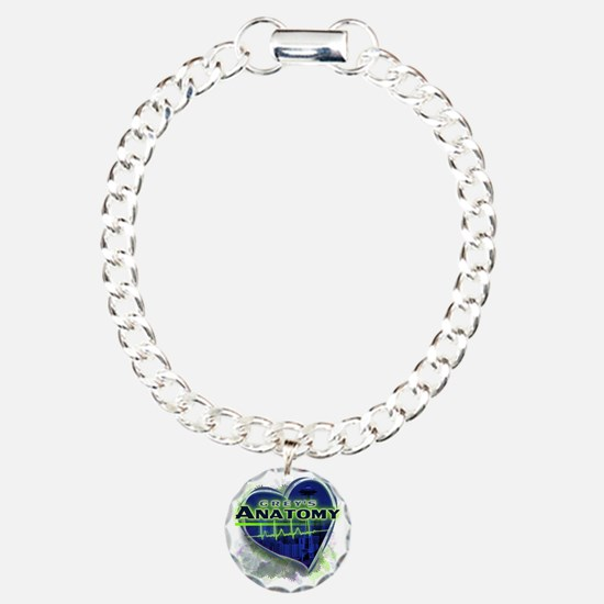 Greys Anatomy TV Fan Charm Bracelet, One Charm