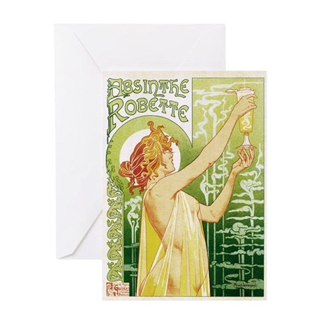 absinthe Robette 14x10 Greeting Card