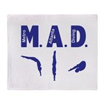 MAD Diving Throw Blanket