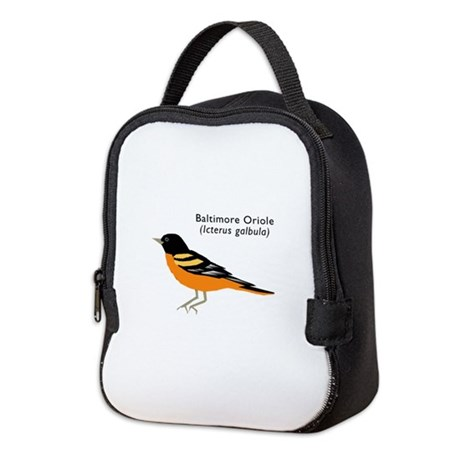 baltimore oriole Neoprene Lunch Bag