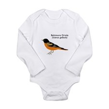 baltimore oriole Long Sleeve Infant Bodysuit