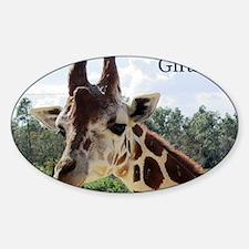 over size giraffe 1 copy Decal