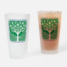 Smoking Tree Drinking Glass