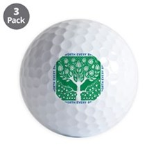Smoking Tree Golf Ball