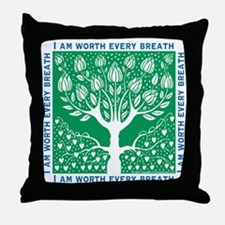 Smoking Tree Throw Pillow