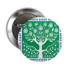 "Smoking Tree 2.25"" Button"