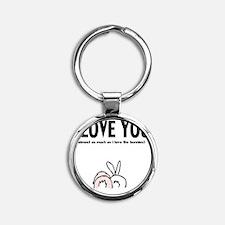 ilu bunny butz Round Keychain